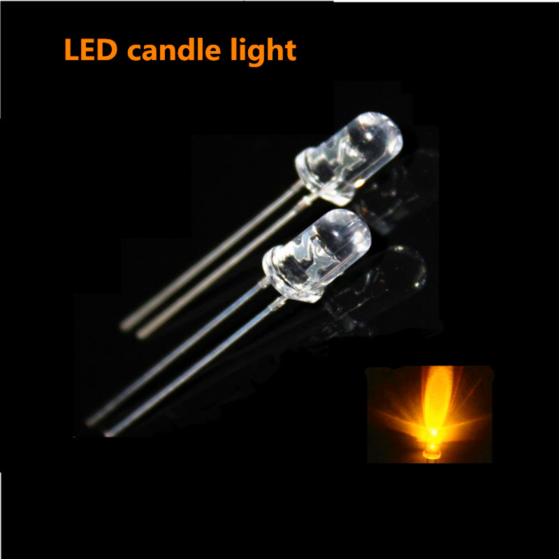 100pcs 5mm LED Flicker Diodes Flashing Yellow Blinking Candle Light Flash Blink Emitting Diode Flickering 100pcs lot 3 9v 3 9 volt 3v9 zener diode 1 2w 500mw 0 5w 0 5watt diodes do 35