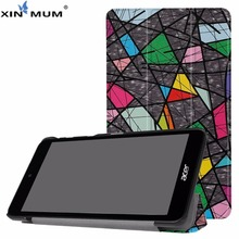 цены XIN-MUM Auto Sleep Wake PU Leather Case For Acer Iconia One 7 B1-790 Funda Tablet Case Cover for Iconia One 7 B1-790 + Pen