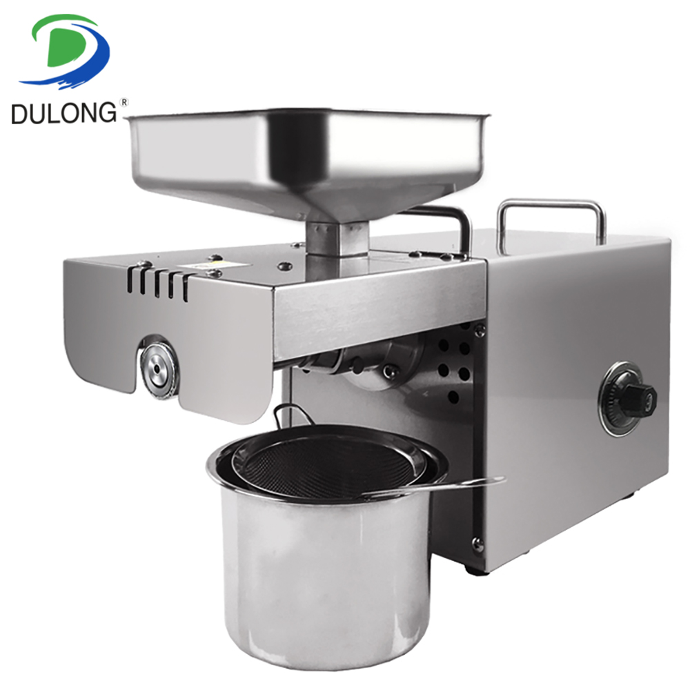 Home use mini oil cold press machine automatic temperature control multifunctional oil expeller oil extraction 110 240v commercial small oil press machine peanut sesame cold press oil machine high oil extraction rate cheap price