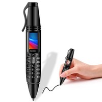 SERVO K07 Pen mini Cell phone 0.96 Tiny Screen Dual SIM Flashlight Bluetooth Dialer Unlock Mobile Phone Recording pen phones