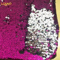 Cheapest Reversible Sequin Fabric 5mm Mermaid Sequins On Spandex Fabric By The Yard For Clothes Wedding