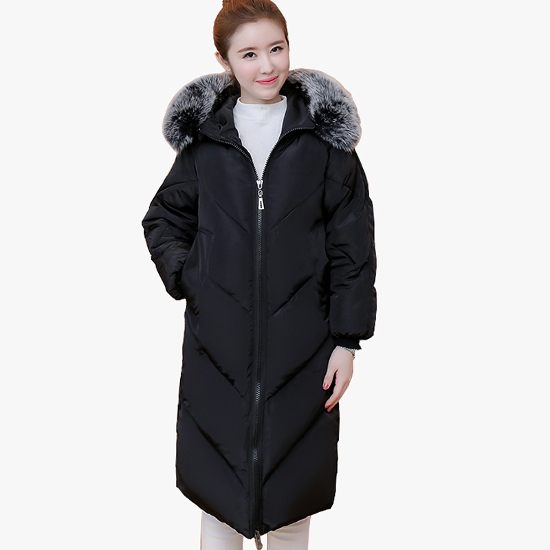 2017 new style women winter jackets women thick coat women long parka jacket ladies coats hood cotton padd manteau femme hiver tuhao lady down cotton pure color manteau femme hiver thick warm jackets 2017 new autumn winter women hooded long coats lw20