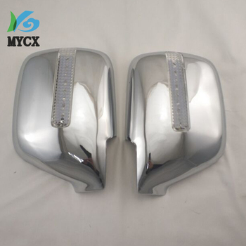 2PCS High quality ABS plating LED Rear view mirror cover Rear mirror decorative sequins for Toyota FJ80 4500 Land Cruiser