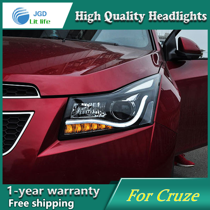 Auto Clud for chevrolet cruze headlights 2009-2014 for chevrolet cruze led angel eyes light bar DRL Q5 bi xenon lens car styling