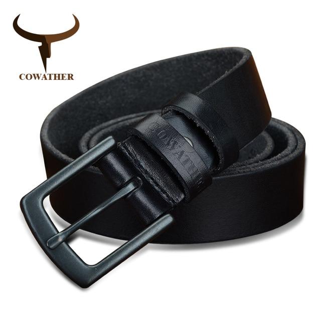 c31845618b91 COWATHER 100% skóry wołowej oryginalne pasy skórzane dla mężczyzn w stylu  vintage 2017 nowy projekt