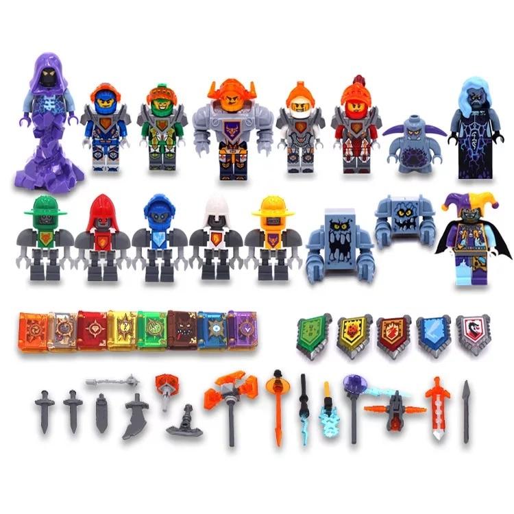 Ninjago + nexo cavaleiros super heros modelo bloco compatível com legoe ninjago figura de ação educacional brinquedos para crianças presentes
