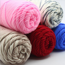 10 Pcs / Lot Natural Soft Cotton Yarn super thick yarns for hand knitting laine a tricoter crochet yarn 100g pc