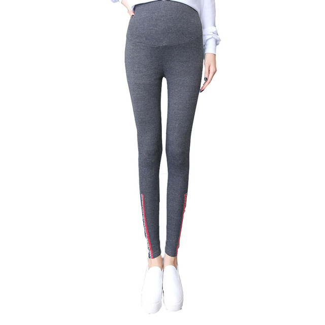 Spring Maternity Clothes Pants Care Belly Leggings For Pregnant Plus Size Solid Hamile Giyim Thin Trousers