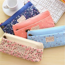Free Shipping Pen Guoyi Pencil case cultural Office learning school culture Floral pattern Bilayer Pencil case