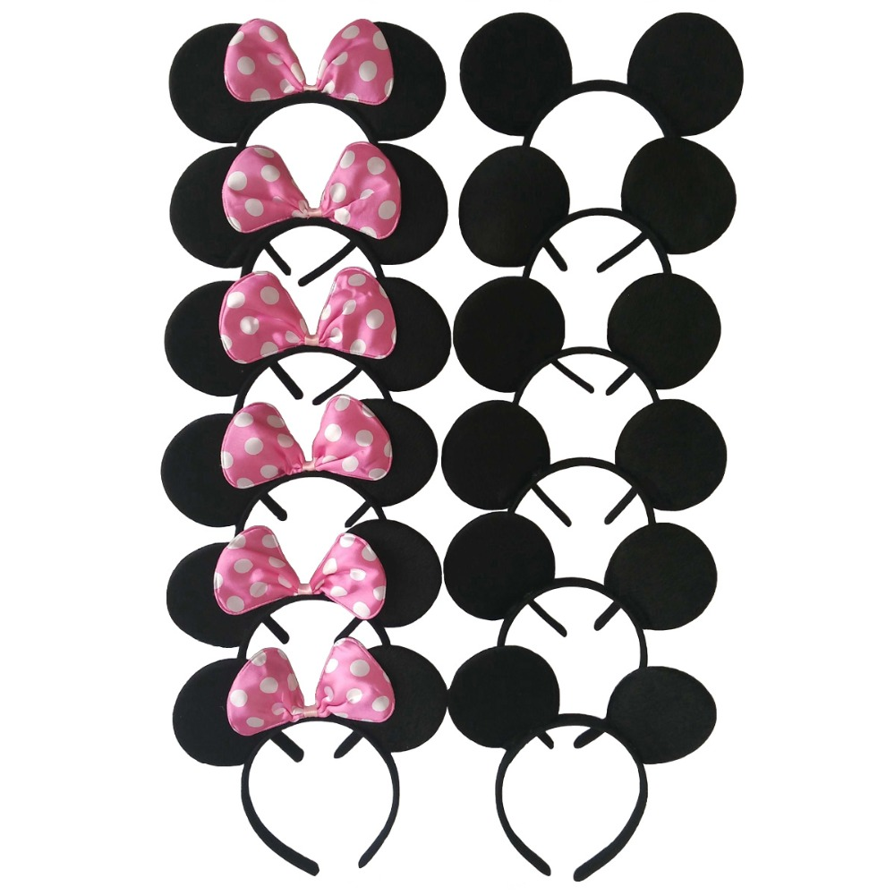 Aliexpress Baby S Hair Accessories Minnie Mickey Ears Bow Headband Women Clips Kid Birthday Party Hairband Wedding Headdress From