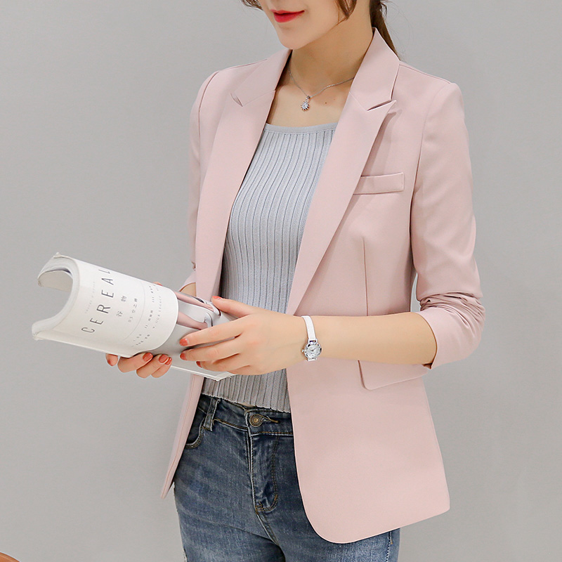 Blazer Feminino Sale Full No Blaser Jaqueta Feminina 2017 New Dress Korean All match Slim Small