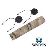 Element Tactical Helmet Rail Adapter Set for zMSA zSordin Headset With Camo Headband
