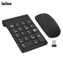 Lefon Draadloze Numerieke Digitale Keyboard Mini 2.4G 18 Toetsen USB Cijfertoetsen Pad + Draadloze Muis Voor Laptop PC notebook Desktop(China)