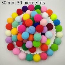 30mm Soft Pompoms Fluffy Plush Fur Ball Toys Crafts DIY Handmade Wedding Home Decor Sewing on Clothes Shoes Accessories Supplies