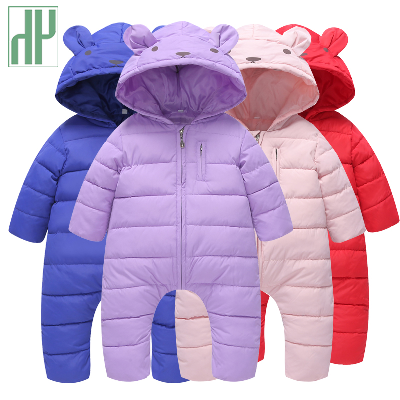 HH Newborn baby clothes bear onesie christmas baby girl romper children winter jumpsuit hooded boys snowsuit overalls for kids