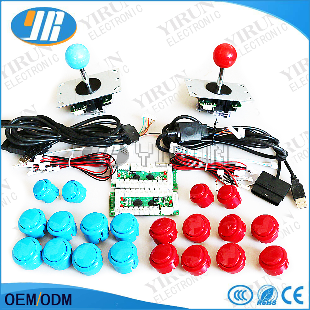 Free shipping PC PS2 PS3 XBOX360 for windows 4 in 1 USB Encoder 4way Arcade Joystick