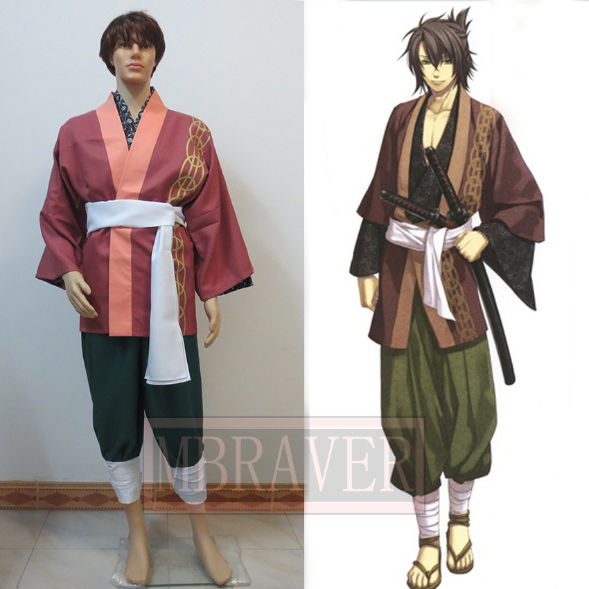Hakuouki Okita Souji Uniforms Cosplay Costume Custom Made Any Size