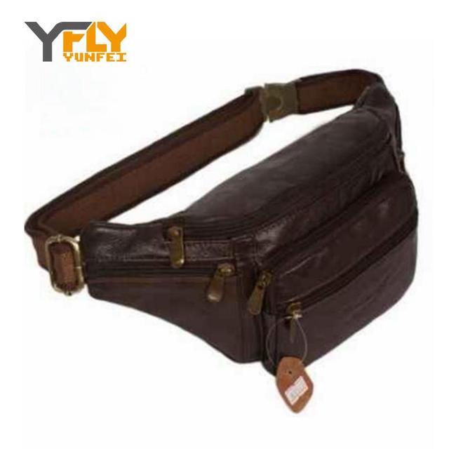 Y-fly 2016 novo estilo! Homens sacos de viagem multifuncional pacote de cintura pacote de peito de couro hiqh qualidade homens cintura sacos DB4010
