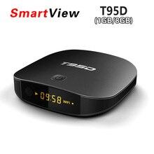 RK3229 T95D Android TV Box Rockchip Quad Core Android 6.0 TV caja RAM 1 GB/8 GB 2 GB/16 GB 2.4 GHz WiFi Miracast TV HD Media Player