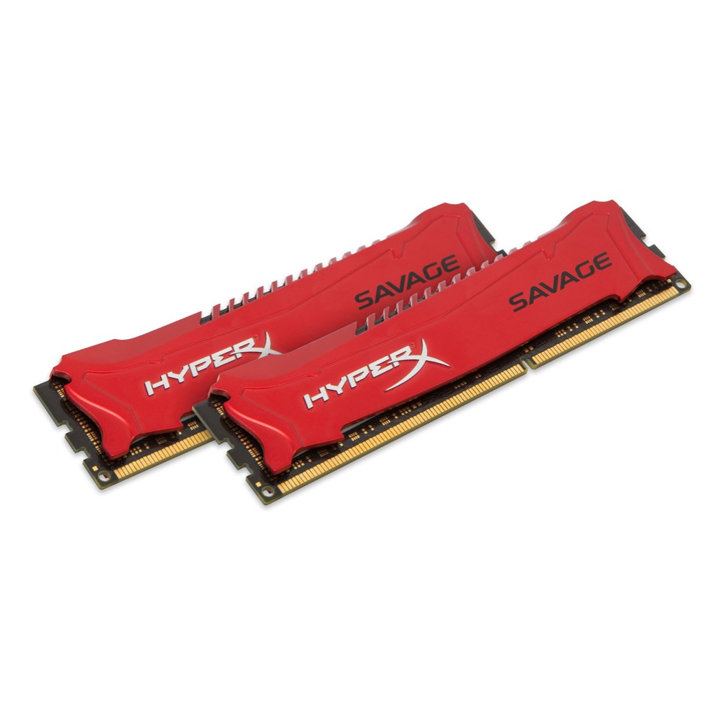 HyperX Savage 8 GB 1600 MHz DDR3 Kit de 2, 8 GB, 2x4 GB, DDR3, 1600 MHz, 240-pin DIMM, rouge