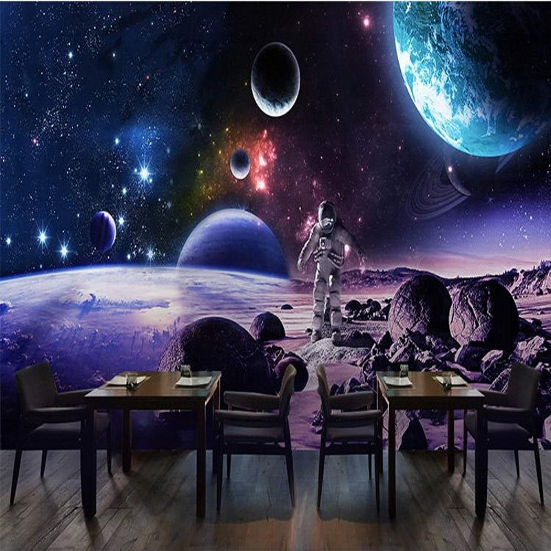 Custom Wall Mural Custom Space Sky 3d Stereo Science