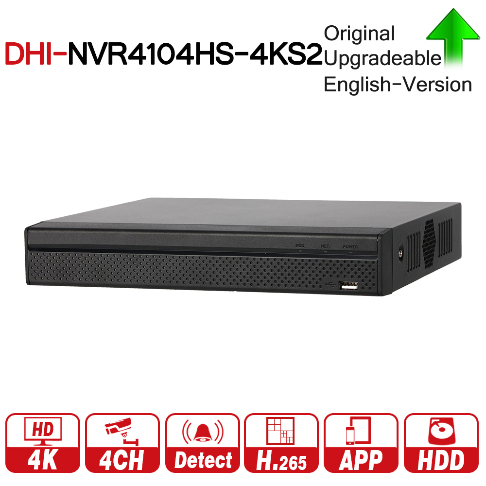DH Original NVR NVR4104HS-4KS2 4CH Compact 1U Lite 4K H.265 NVR 8MP Resolution ONVIF For DH IP Security CCTV System