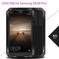 For Galaxy S8 + 6.2Case 100% Original LOVE MEI Doom Armor Shock proof Aluminum Case Coque For Samsung Galaxy S8 S8 Plus 6.2