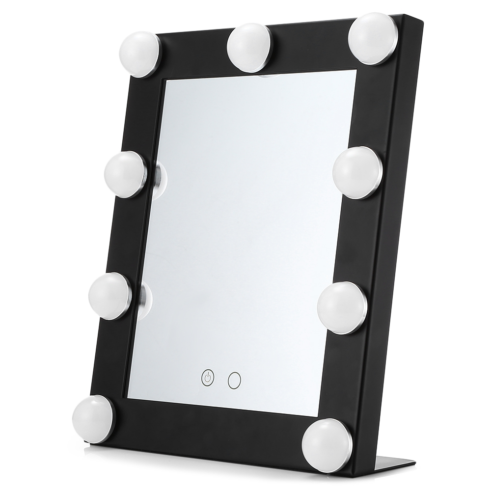 New Touch Screen Makeup Mirror Professional Makeup Mirror With 9 LEDs Bulbs Dimmable Tabletop Touch Control Cosmetic Mirror 38 in 1 professional cosmetic makeup lipstick plate w mirror multicolored