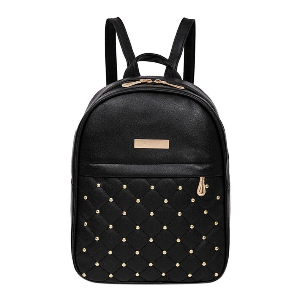 MOJOYCE Casual Travel Bead Backpack for Teenage Girls PU Leather SchoolBag Backpack Mochila feminina Backpacks Shoulder Bags