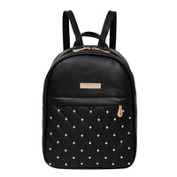 Fashion Women Casual Travel Bead Backpack School Bags PU Leather Backpack For Teenage Girls Mochila Female