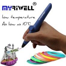 3D pluma Myriwell Baja Temperatura RP-200A Impresora 3D Pluma Con 3 Colores 15 M PCL filamento Paquete Artes 3d plumas Para Niños Herramientas de Dibujo