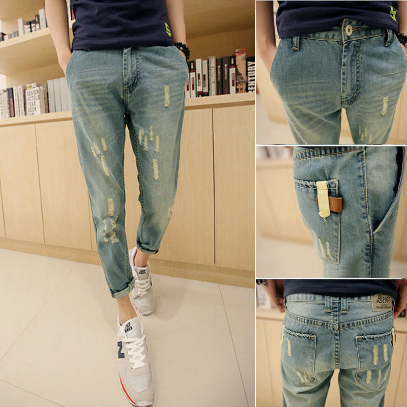 Aliexpress.com : Buy Men Jeans 2015 Summer New Fashion Ripped