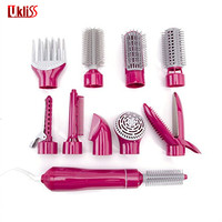 UKLISS Hot Air Brush Blow Dryer 10 in 1 Multifunction Hair Styling Brush Comb Hot Air BrushStyling Hair Dryers
