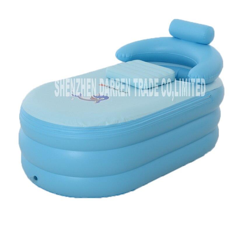 YG001 Adult Spa PVC Folding Portable Bathtub For Adults Inflatable warm Bath Tub Size 160cm*84cm*64cm With Electric Pump