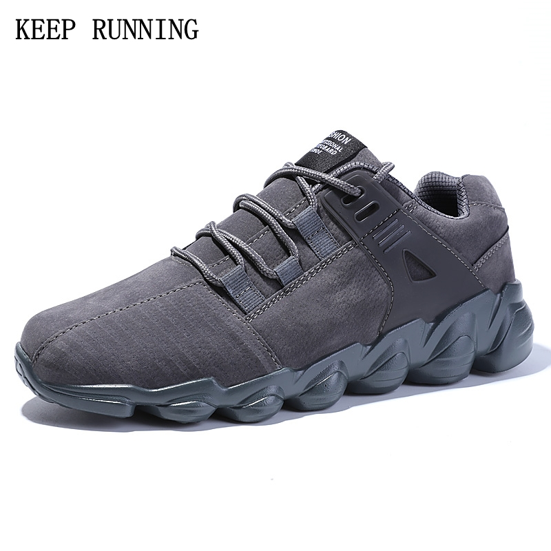 2017 Autumn Winter fall outdoor walking flat shoes lace-up sports shoes ultra - light running shoes comfortable  men