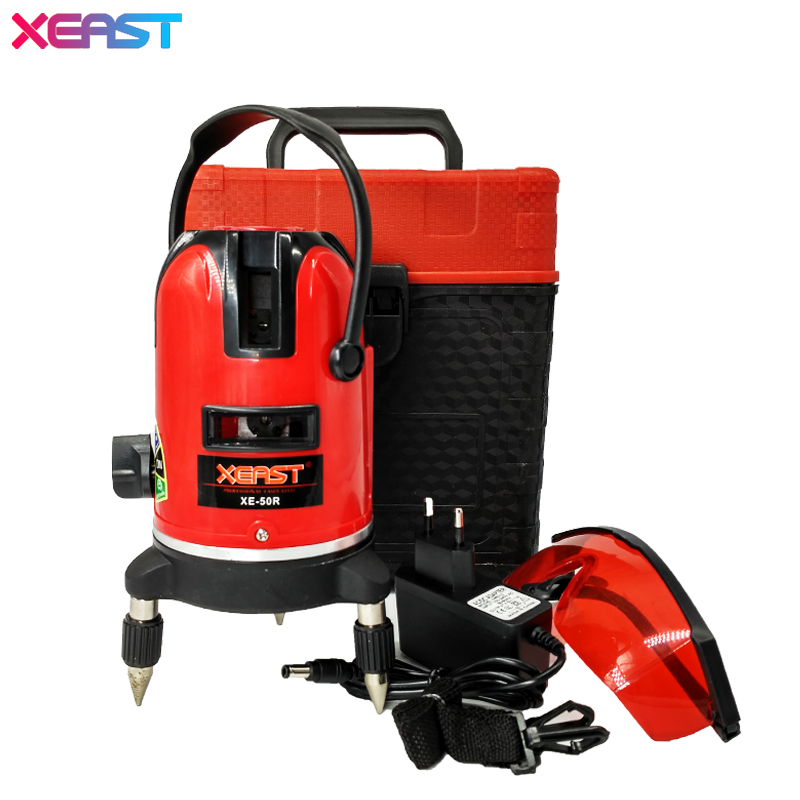 XEAST 5 lines 6 points laser level 360 rotary cross laser line leveling with outdoor model-New product promotion!!! xeast xe 50r new arrival 5 lines 6 points laser level 360 rotary cross lazer line leveling with tilt function