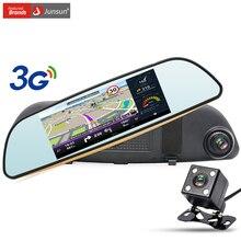 Junsun 3G 7 inch Car GPS Navigation Android Rearview Mirror Car DVR Camera WIFI Bluetooth automobile sat nav navigator free maps