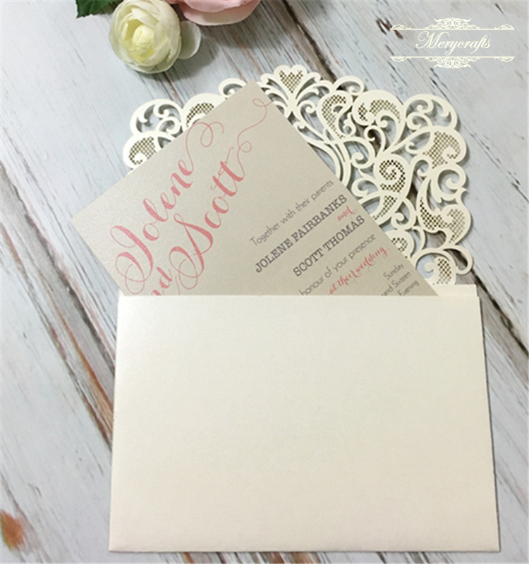 Heart Shape Wedding Invitation Card
