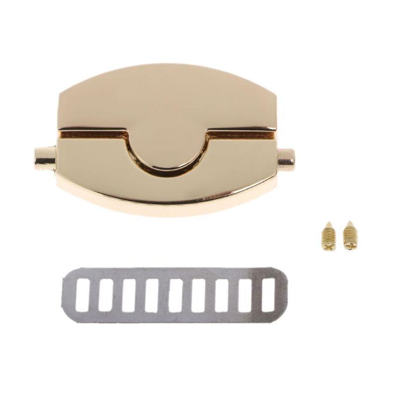 New Metal Gold Clasp Turn Lock Twist Locks For DIY Handbag Craft Bag Purse Hardware 4.6x2.6x3.9cm