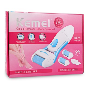 Hautpflege Tool | Kemei KM-2502 Elektrische Fußpflege Werkzeug Peeling Abgestorbene Haut Entfernung + 1 Pc Fuß Datei Roller Ferse Kallus-entferner Peeling Wiederaufladbare