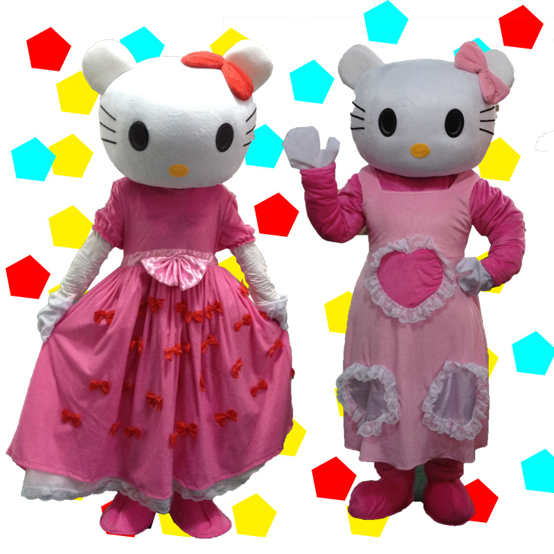 Hello Kitty Mascot Costume Adult Size Cat Mascot Costume A Variety of Styles Are Available Cosplay Outfits Adult Size