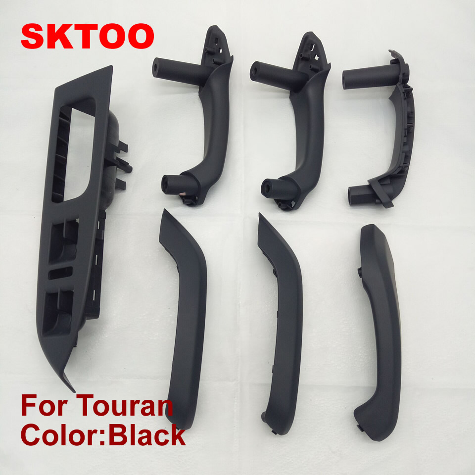 SKTOO 7 PCS for Volkswagen vw Touran door handle frame Inner Armrest Interior Door Grab Handle Cover window Switch Bezel