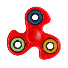 In stock Tri Spinner Fidget Toy Plastic EDC Hand Spinner For Autism and ADHD Rotation Time