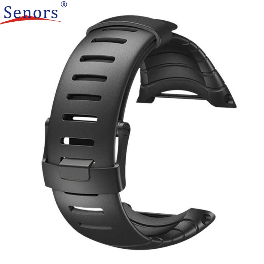 Superior Luxury Rubber Watch Replacement Band Strap For SUUNTO CORE SS014993000 August 16 quality pu rubber strap watch accessories for for suunto