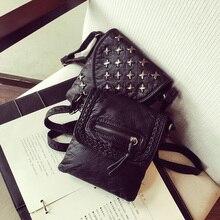 Vintage Small bags Women Soft PU Leather Mini rivet Handbag Designer Crossbody Handbags Ladies Hand Bags Cheap Female Clutch