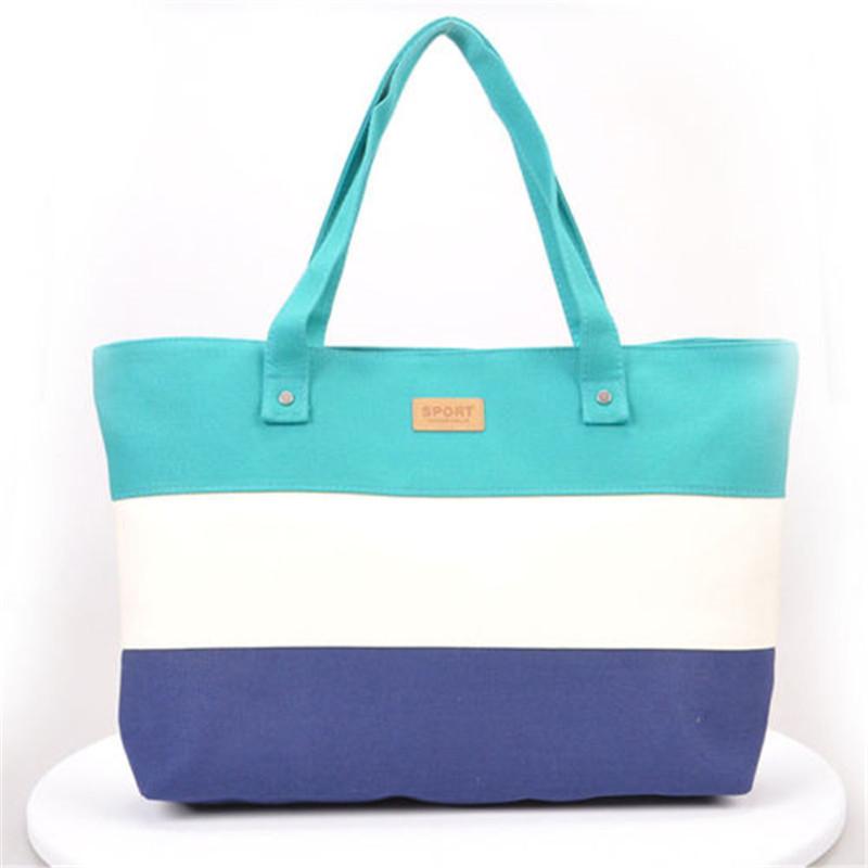 2017 New Mujer Summer Messenger Bag Beach Handbag Bags Brand Totes Women Ladies Stripes Canvas Shoulder Bag Drop Shipping N508 6