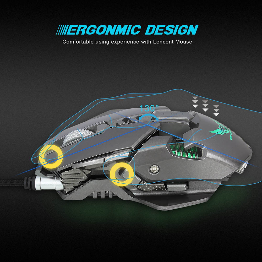 Centechia 3200 DPI USB Wired Competitive Gaming Mouse 7 Programmable Buttons Mechanical Macro Definition Programming Game Mice in Mice from Computer Office