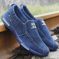 Мужская Вулканизированная обувь удобная мужская обувь для взрослых джинсовая парусиновая обувь мужские лоферы новые мужские кроссовки ...