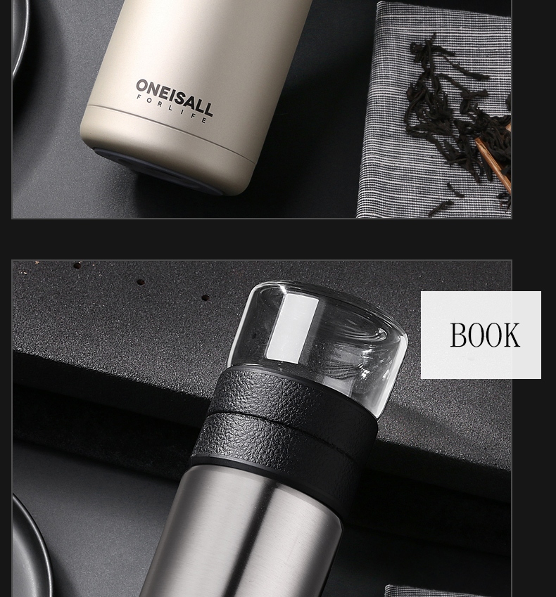 HTB1WA uNQzoK1RjSZFlq6yi4VXaC Thermos Bottle Stainless Steel Tea Partition Thermo Cup Glass Tea Strainer Thermos Mug Bottle Vacuum flask Bottles 400ml + 200ml