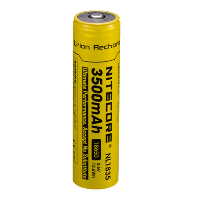1 Pcs Nitecore 18650 3500 MAh NL1835 3.6 V 9.6Wh Li-on Rechargeable Protected Li-ion Button Top